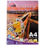 SUN Fancy Photo Paper Glossy 240 Gsm - Strip [Garis] - Kertas Foto / Photo Paper